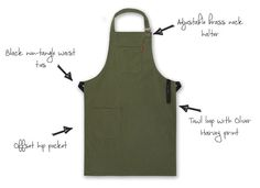 The Olive Front Of House Apron