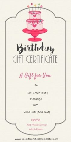 Microsoft Bridal Shower Gift Certificate Templates  Gift