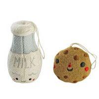 The Land of Nod - November 2015 Catalog - Milk/Cookies Besties Ornaments Set.