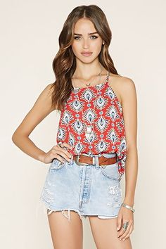 Feather Print Cami
