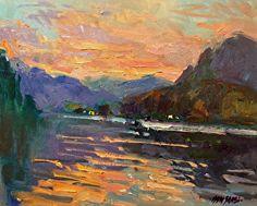 lake lure sunset by Don Sahli Oil ~ 16 x 20