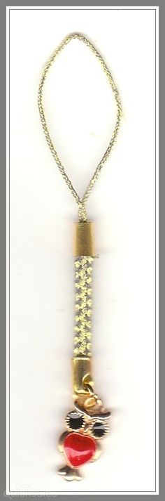 Owl Gold Plated Charm Mobile Phone/Bag Dangle  by MadAboutIncense - $6.50