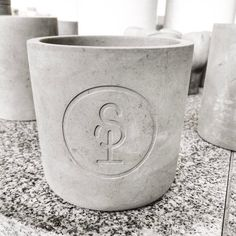 Sapling Candle Co - Sample!     Love how our logo has turned out engraved in this genuine concrete!
