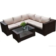 Check Out The Hom Bas 2226 Kessler 4 Pieces Outdoor Wicker Sectional Sofa