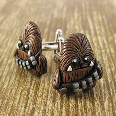 Chewbacca Inspired Cufflinks by rapscalliondesign on Etsy, $39.02