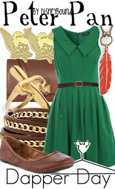 Disney Bound: Peter Pan from Disney's Peter Pan (Dapper Day Outfit) Disney Themed Outfits, Disney Dresses, Disney Clothes, Disney Bound Outfits Casual, Disney Cute, Disney Style, Disney Disney, Moda Disney, Disneybound Outfits