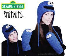 COOKIE MONSTER COOKIE MONSTER SESAME STREET HATS & MITTENS