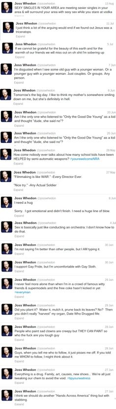 Joss Whedon on Twitter // laughing so hard