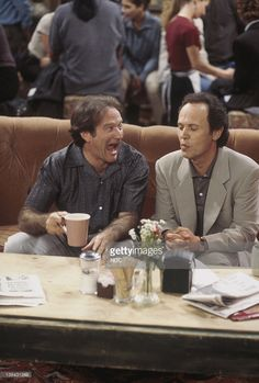 FRIENDS -- 'The One with the Ultimate Fighting Champion' Episode 24 -- Robin Williams as Thomas, Billy Crystal as Tim, March 12, 1997| Credit: NBC