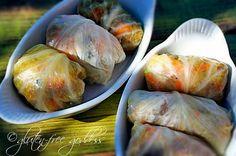 Stuffed Cabbage with Roasted Sweet Potatoes (http://glutenfreegoddess.blogspot.com/2008/10/stuffed-cabbage-with-roasted-sweet.html)