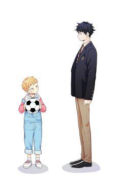 Love is an illusion Manga Bl, Manga Love, Manga Anime, Anime Couples Manga, Anime Guys, Bl Comics, Anime Family, Cute Anime Wallpaper, Cute Anime Pics