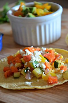 Summer Vegetable Tacos | mountainmamacooks.com #tacos #vegetarian
