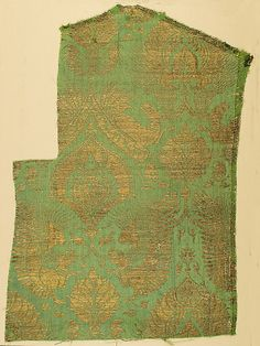 Brocade Textile Date: ca. 1350–1400 Geography: Made in Lucca, Italy Culture: Italian Medium: Silk, metal thread Accession Number: 09.50.967