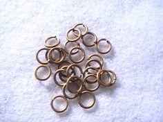 Brass Round Jewelry Jump Rings 8mm DIY Supplies by dragonflyridge, $3.00