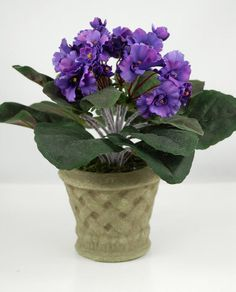 14 best silk flowers images on pinterest african violet silk violet plant artificial mightylinksfo