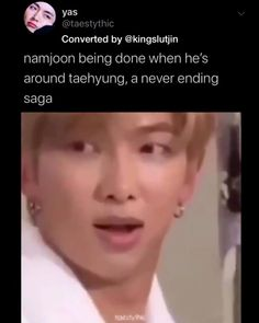 This lil alien confusing joonie Bts Funny Videos, Bts Memes Hilarious, Bts Taehyung, Bts Bangtan Boy, Namjin, Bts Playlist, Bts Tweet, Album Bts, Bts Rap Monster