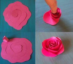 wohnung-dekorieren-ideen-selber-machen-wenig-geld-papier-rose-pink-diy