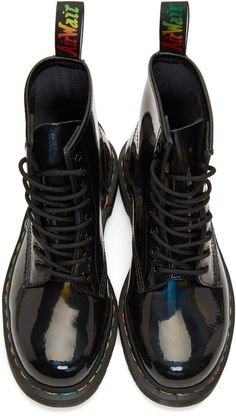 huge discount bf596 27ae2 Dr. Martens - Black Rainbow 1460 Boots