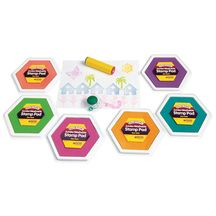 Colorations® Candy Colors Jumbo Washable Stamp Pads - Set of 6 @ Gwen-these would definitely be big enough for the school projects!