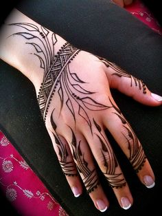 girlshue - 30 Easy & Simple Mehndi Designs & Henna Patterns 2012 | Henna Tattoo For Beginners