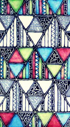 Rebecca Blair; Jungle Pattern, Art Piece in Pen and Pencil, Close Up