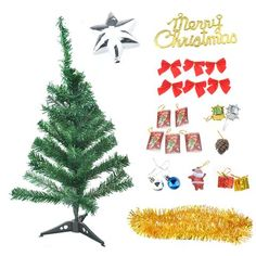 [EBay] 60Cm*30Cm New Year Christmas Small Tree Tabletop Xmas Pine Tree With Adornment Christmas Decor Ornament For Home Party Festival