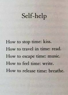 Self Help fromMatt Haig's book Reasons to Stay Alive.In a review of Reasons to Stay Alive by How to Tell Your Story:Matt Haig experienced depression in his twenties, and now, around 15 years later, he had finally addressed it head on in Reasons to Stay Alive. It's a beautiful book, pocket sized, white binding, orange inner covers, rainbows dancing across the paper outer. And inside, it's beautiful too.The writing takes the form of scattered pieces, part memoir, part lists, a few selected…