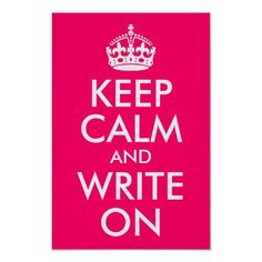 Bright Pink Keep Calm and Write On Posters National Handwriting Day January 23rd