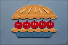 Five Apples in a Basket Felt Board Magic