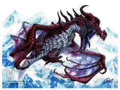 Odahviing by ShadeofShinon Elder Scrolls Games, Elder Scrolls Skyrim, Creature Concept Art, Architecture Portfolio, Beautiful Creatures, Book Art, Universe, Characters, Fire