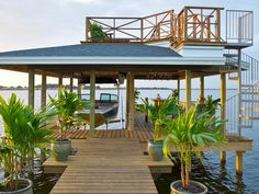 Yardcore's Jake and Joel Moss really went above and beyond on this two-story boat dock.
