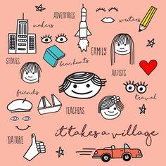 It Takes a Village to Raise a Child Win Online, My Community, 21st Century, Take That, Bulletin Board, Zine, Children, Artist, Boutique
