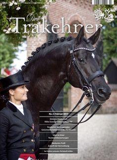 The Danish dressage champions Rikke Svane and the stallion 'Finckenstein TSF' on the cover of Der Trakehner magazine.