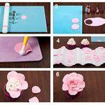 How to make an open rose cupcake topper - Jessica Harris Cake Design Cupcake Tutorial, Rose Tutorial, Fondant Tutorial, Fondant Rose, Fondant Flowers, Sugar Flowers, Frosting Flowers, Cake Flowers, Flower Cupcakes