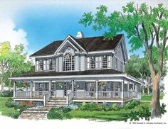 Farmhouse House Plan with 2182 Square Feet and 4 Bedrooms(s) from Dream Home Source | House Plan Code DHSW01496