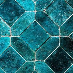 So in love.  @cotto_etrusco. #raw #organic #handmade #design #colour #colouredtiles #blue #turquoise #shadesofblue #tiles #beauty #traditional #urbanedgeceramics #uec #cottoetrusco Glazed Tiles, Blue Floor, Tile Art, Shades Of Blue, Cool Furniture, Handmade Design, Urban, Ceramics, Restaurant Interiors