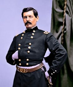 Major General George B. Colorized Historical Photos, Colorized History, American Civil War, American History, Money Template, Passport Card, Money Notes, Cigar Men, Native American Pictures