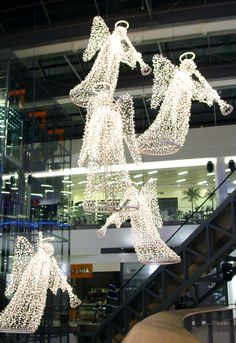 These decorative angels are made with Blachere Illumination.