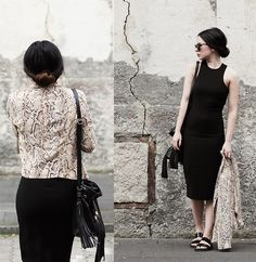 Ally Buu - H&M Dress, Zara Blazer, Zara Sandals - The black dress