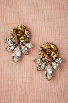 Wild Rose Earrings from BHLDN