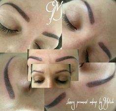 Hairstroke eyebrow by Meli  Luxury permanent makeup  Hungary  www.glamourart.com