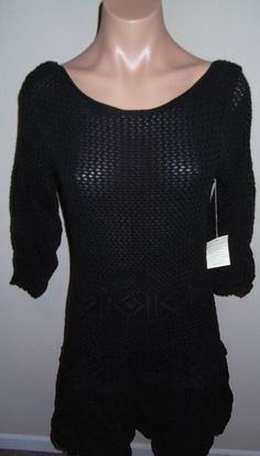 NEW $79 Victoria's Secret Scoop-Back Sweaterdress - SZ M - Black #VictoriasSecret