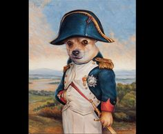 Custom 8x10 Royal Pet Portrait by LordTruffles on Etsy