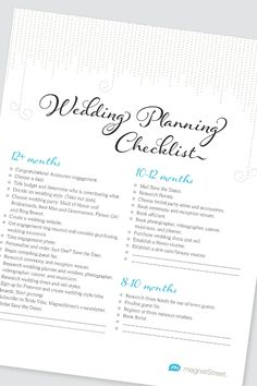 Wedding Wedding Planning Checklist And Wedding Planning On
