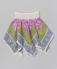 Take a look at the Pink Chasing Rainbows Handkerchief Skirt - Toddler & Girls on #zulily today!