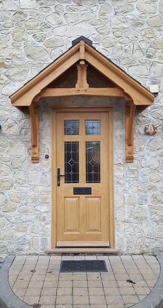 Door Canopy Kits, Door Canopy Porch, Porch Doors, Awning Over Door, Door Overhang, Cottage Front Doors, Cottage Door, House With Porch, House Front