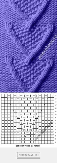"#Knitting_Stitches -- ""This pretty Russian cable stitch looks like hearts. Just right for Valentine's Day!"" #KnittingGuru ** http://www.pinterest.com/KnittingGuru"