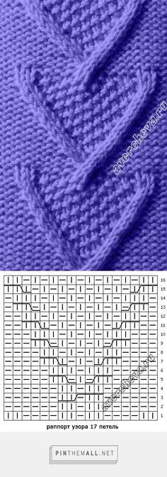 "#Knitting_Stitches -- ""This pretty Russian cable stitch looks like hearts. Just right for Valentine's Day!"" #KnittingGuru ** http://www.pinterest.com/KnittingGuru"