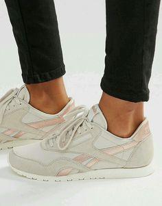 441d13813c Sapatilhas Reebok, Calças Adidas, Sapatos Lindos, Reebok Clássicos  Treinadores, Treinadores Nus,