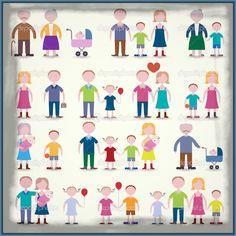 Imagenes de tipos de familia para niños